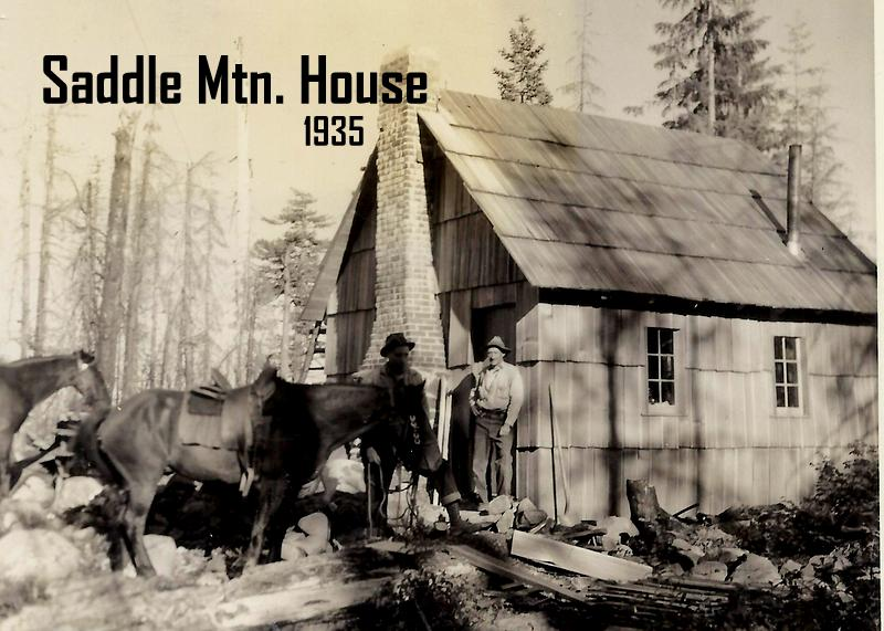 Saddle Mountain House. Image from Oregon Department of Forestry display at 2014 Oregon State Fair. Images collected by department's Forest History Center in Salem, Ore.