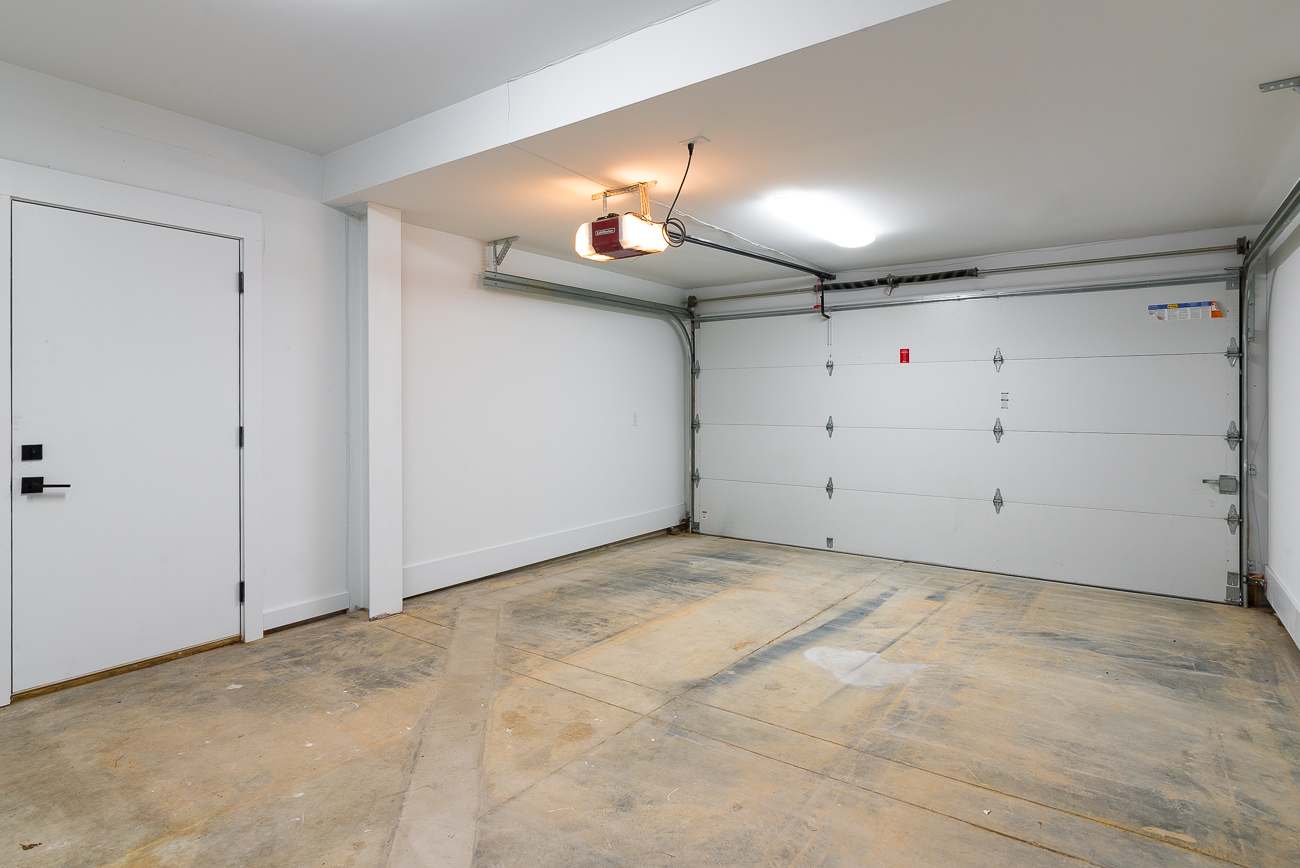 The garage that opens up to the breezeway and the home's first floor. / Image: Phil Armstrong, Cincinnati Refined // Published: 2.4.19