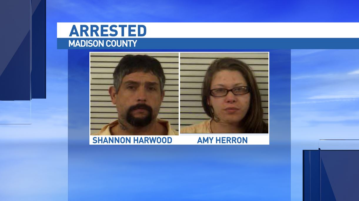 Deputies arrested Shannon Harwood and Amy Herron in connection to a theft and two separate breaking and entering's at a Madison County church. (Photo credit: Madison County Sheriff's Office)