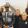 All smiles as Snoop Dogg poses with Kent PD