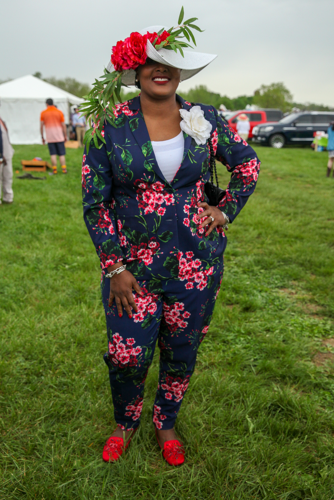 This is a perfect floral power suit.{&nbsp;}(Amanda Andrade-Rhoades/DC Refined)<p></p>