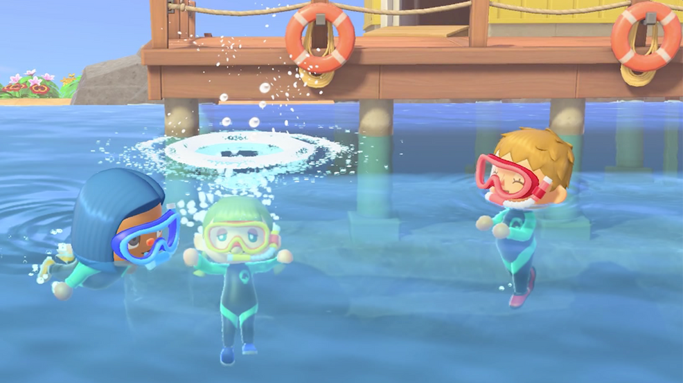 Nintendo's 'Animal Crossing' now lets users go for a swim