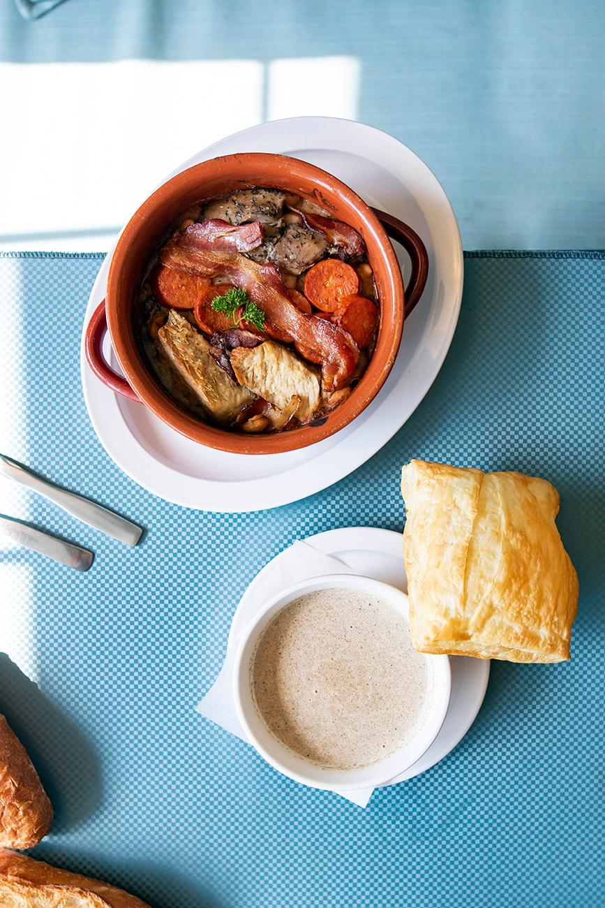 Cassoulet and mushroom soup / Image: Allison McAdams{ }// Published: 8.19.19