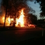 House engulfed in flames off of Spring Hill Ave.