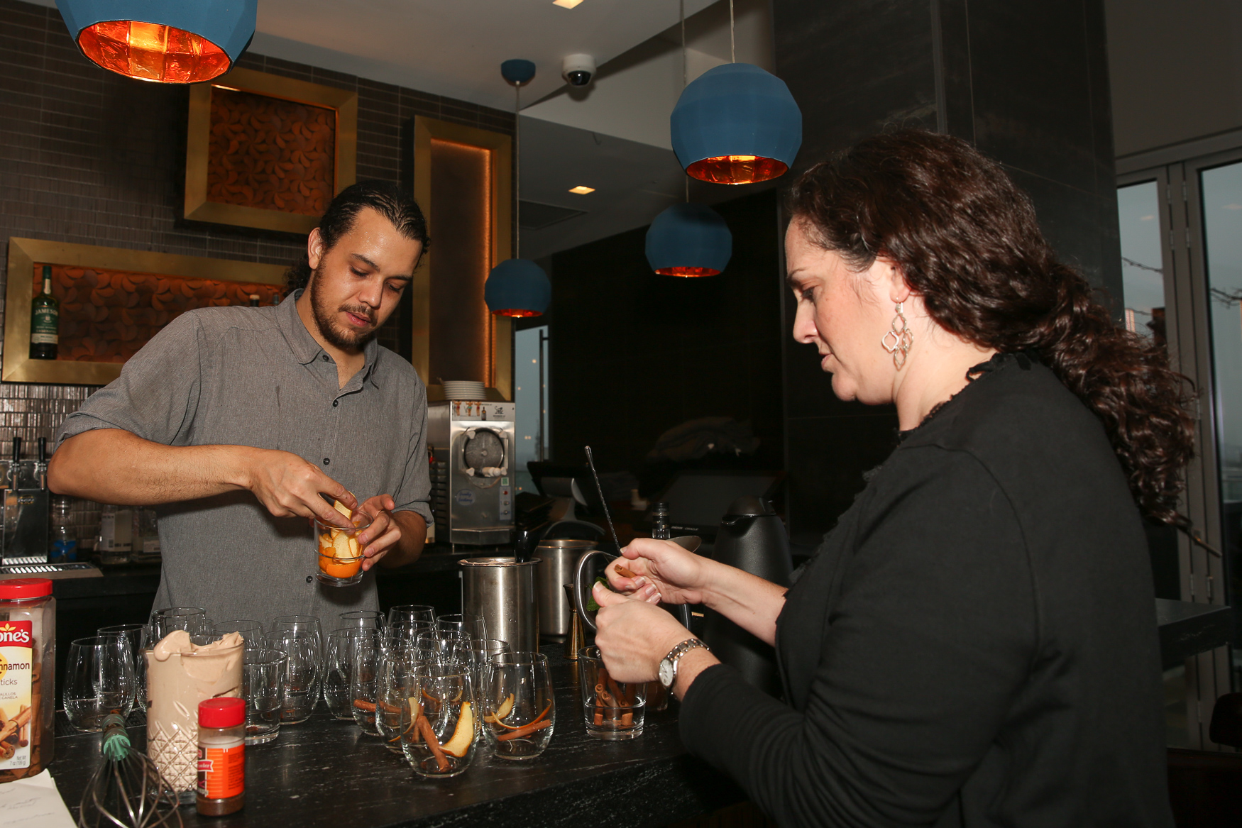 DC Refined and Whiskey Charlie hosted more than 20 people for a cocktail class on December 1. Guests were treated to three warm cocktails, plus a lesson on how to make all of them, as well as a gift bag and raffle prizes, which included Capitals tickets, beauty goods from Blue Mercury and more. This is the final class of 2018, but never fear - we'll be back with our monthly cocktail classes in 2019. (Amanda Andrade-Rhoades/DC Refined)
