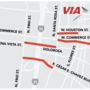 Downtown construction detours 12 bus routes