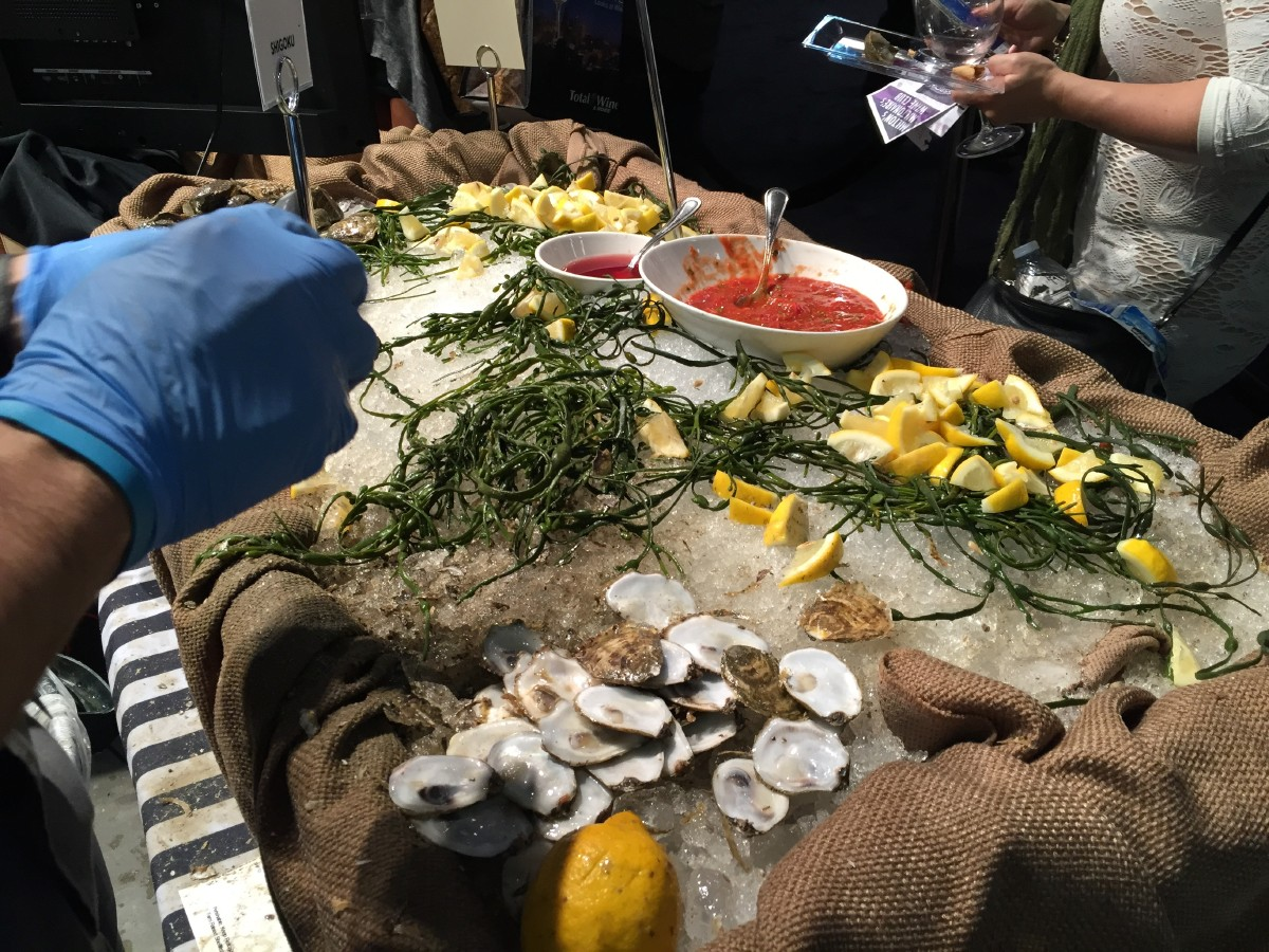Shigoku oysters at the Oyster Table. Please don't drink red wine with oysters! (Image: Frank Guanco)