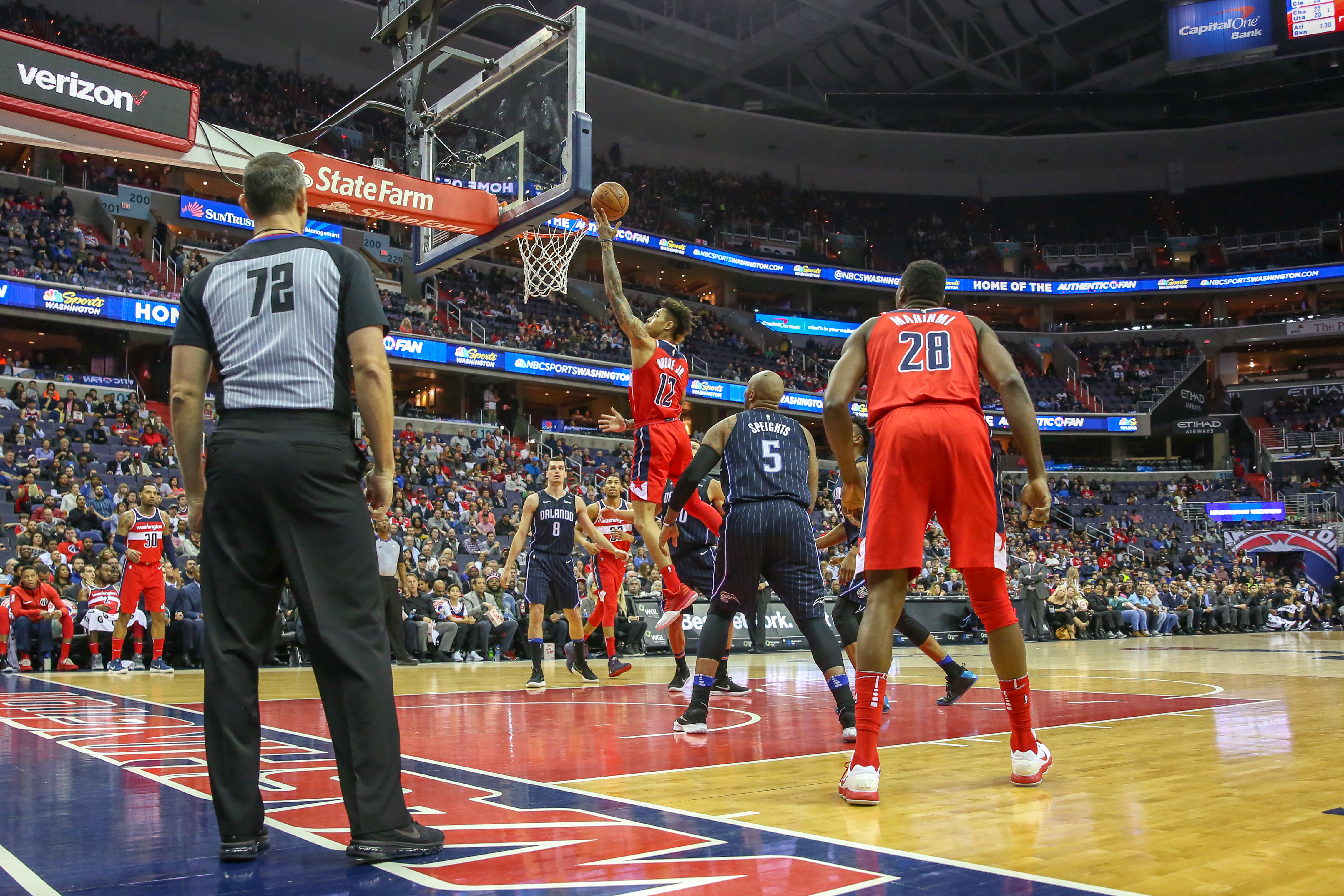 Despite going into the third quarter tied, the Wizards pulled ahead in the final minutes of their game against the Orlando Magic 125-119. The game was marked by aggressive plays by both teams, but ultimately the Wizards kept their energy up while keeping an eye on the clock. (Amanda Andrade-Rhoades/DC Refined)