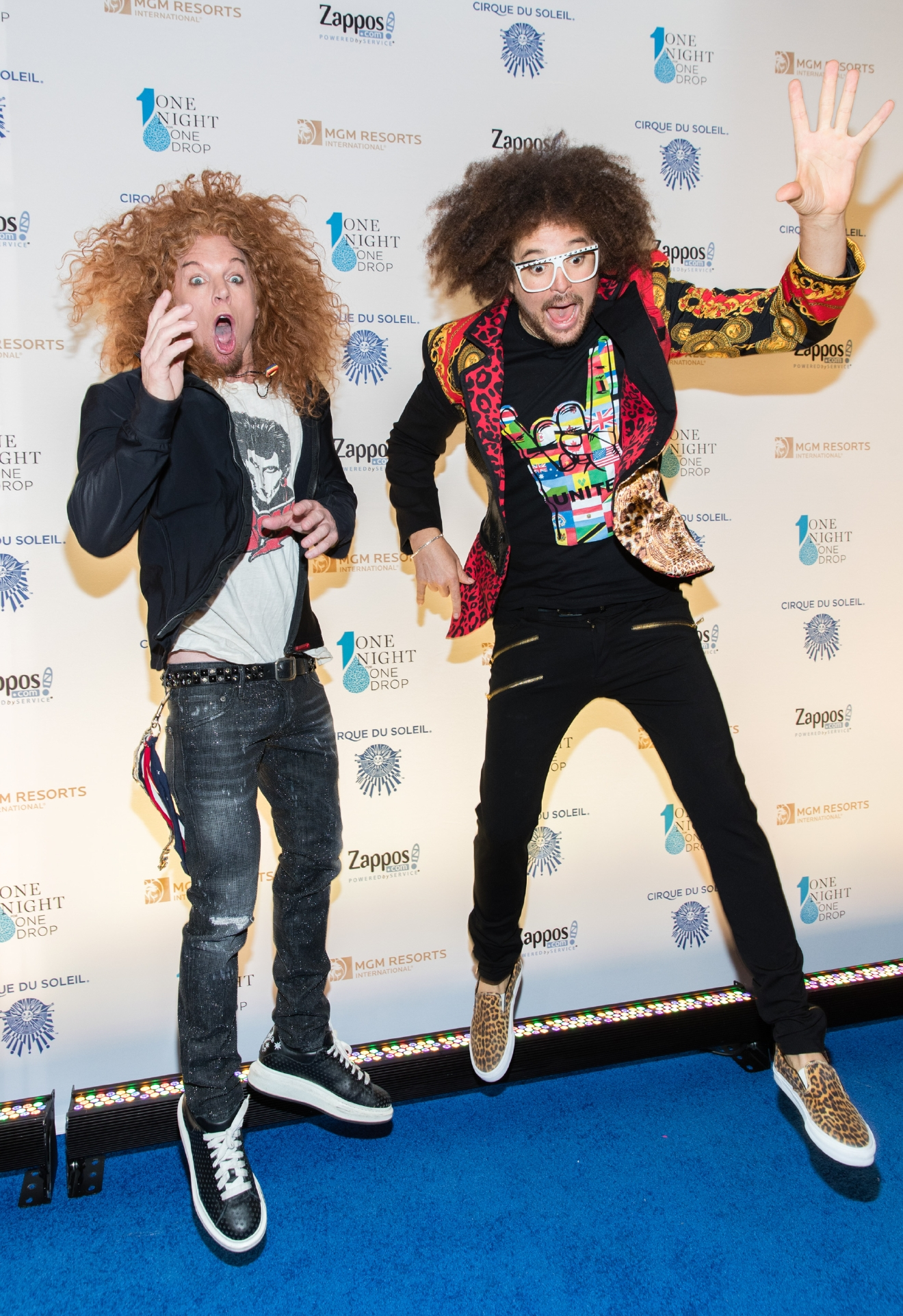Carrot Top and Redfoo at One Night for One Drop 2017. (Photo courtesy of Erik Kabik/ErikKabik.com)