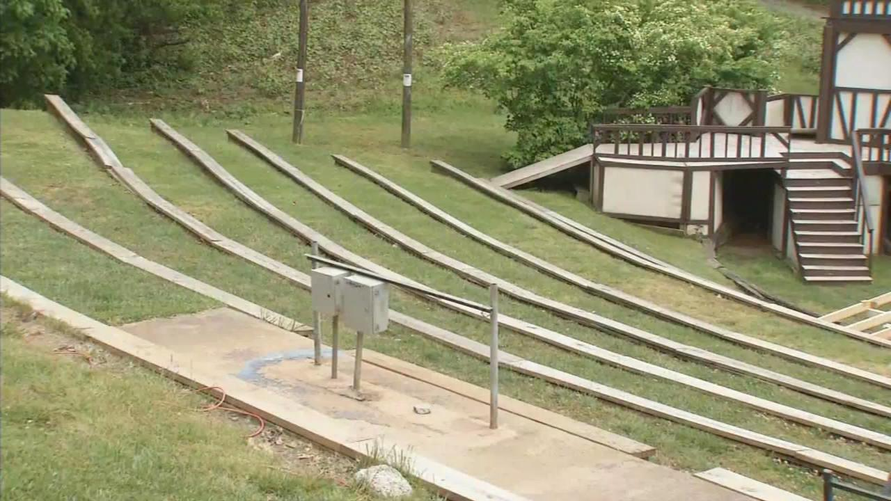 The Hazel Robinson Amphitheater in Montford on May 6, 2016. The outdoor venue has been awarded a tourism grant for improvements. (Photo credit: WLOS staff)